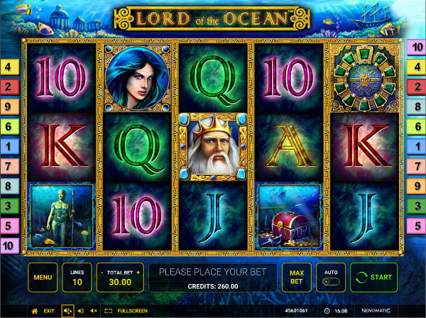 Игровой автомат Lord Of The Ocean - за морскими сокровищами в Вулкан казино