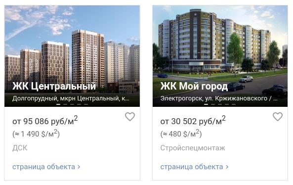 выборе ЖК в России