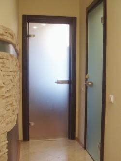 Стеклянные двери в интерьере дома