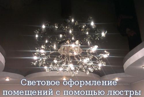 Световое оформление помещений с помощью люстры