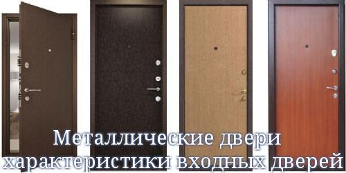 Металлические двери — характеристики входных дверей